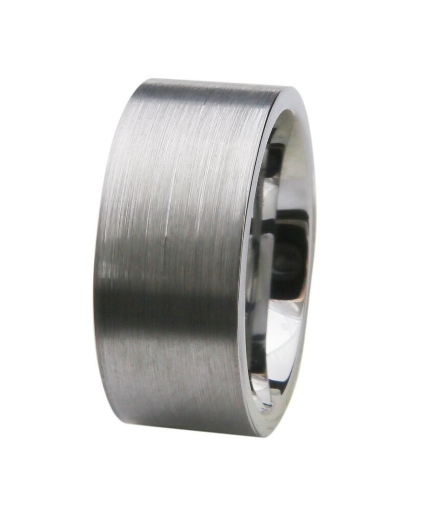 10mm Classic Tungsten Mens Wedding Band Ring Brushed Matte