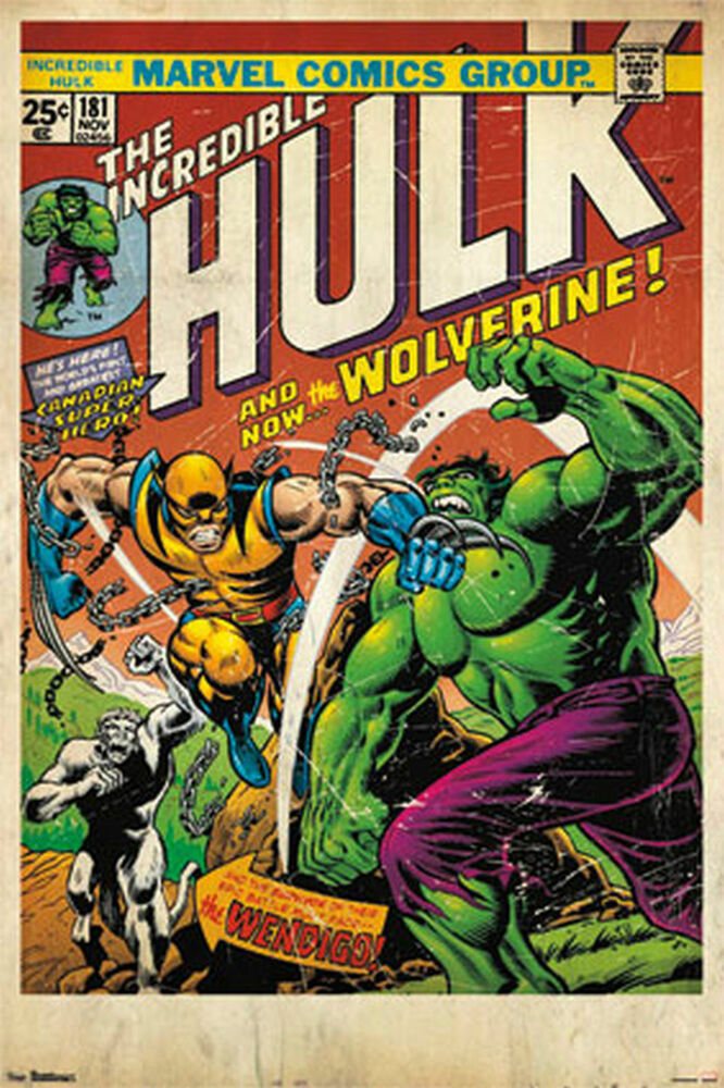 WOLVERINE HULK COMIC BOOK COVER POSTER 24x36 MARVEL