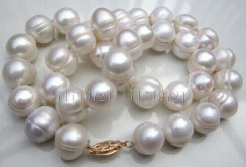BEAUTIFUL 11 12MM WHITE SOUTH SEA BAROQUE PEARL NECKLACE 18INCH EBay