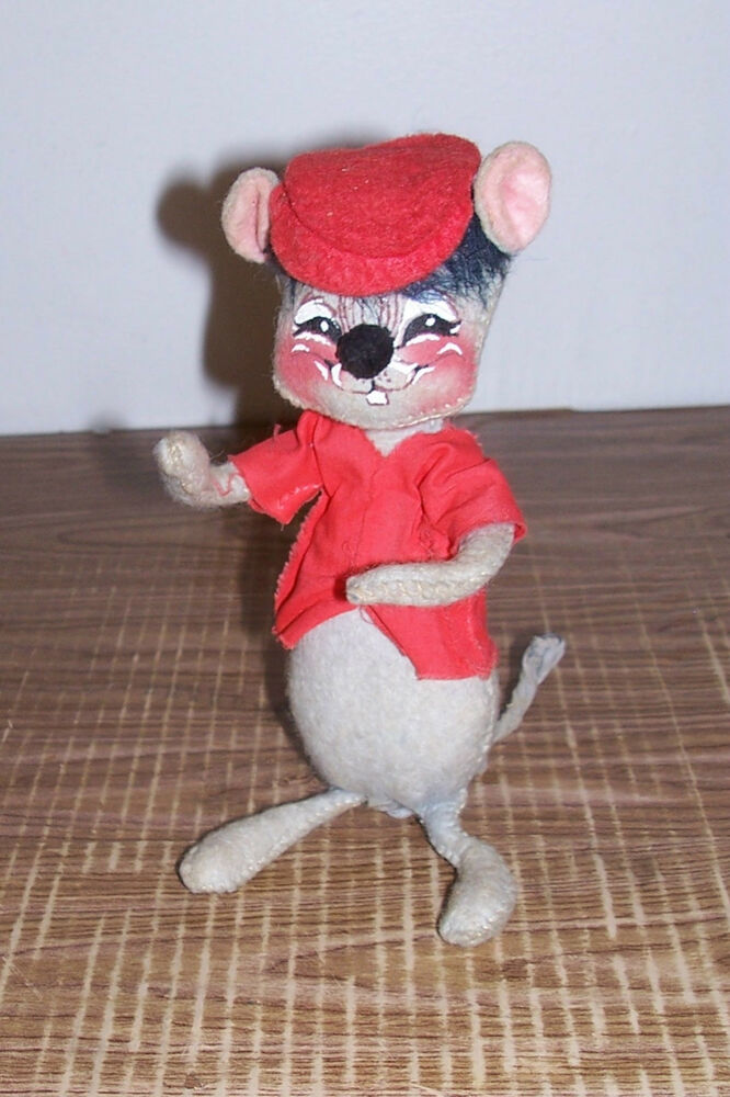 Vintage 1971 Annalee Mobilitee Doll Mouse Christmas Old