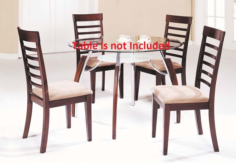 Cushion Seat Unique Framed Back Modern Dining Chairs Brown