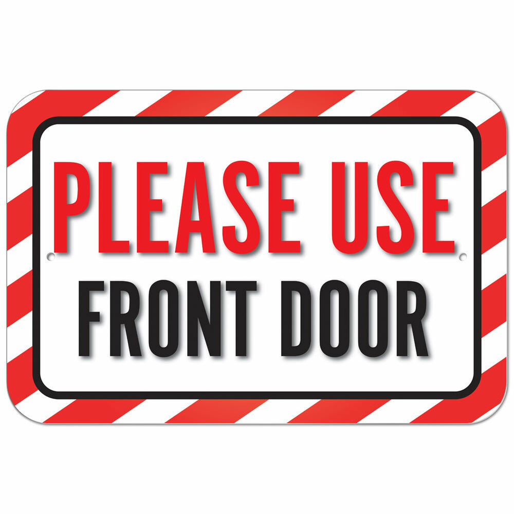 Use Back Door Signs Printable