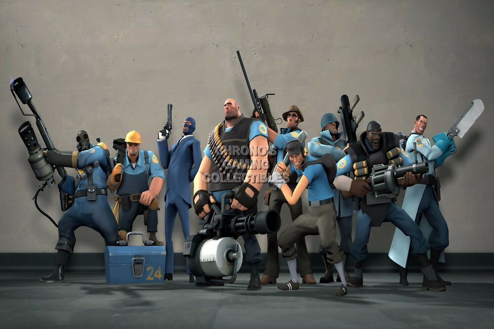 RGC Huge Poster Team Fortress 2 Blue Team PS3 XBOX 360