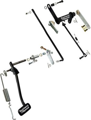 NEW 1957 CHEVY BEL AIR CLUTCH LINKAGE & CLUTCH PEDAL KIT