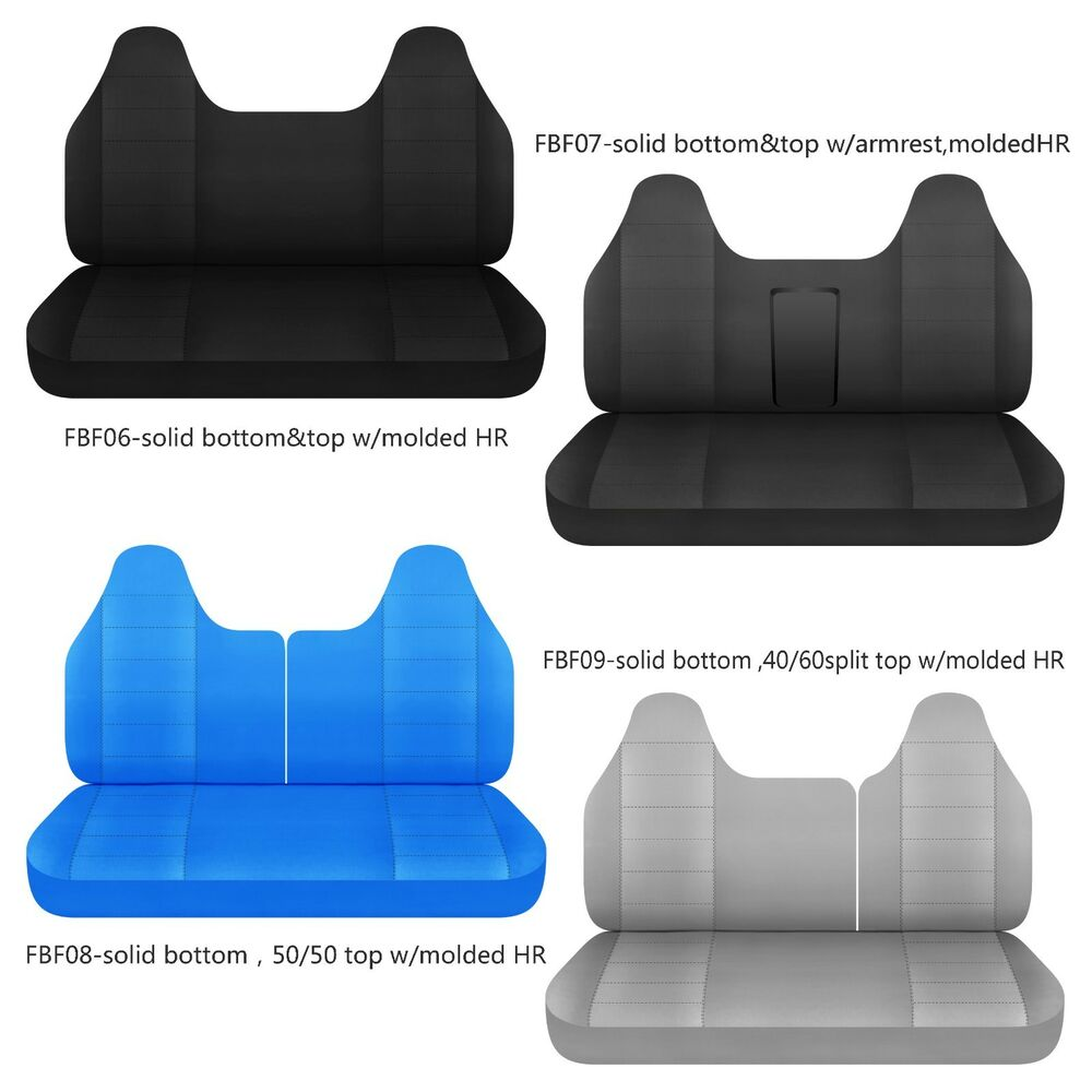 Cc Ford F 150 250 350 Cotton Bench Seat Cover With Molded