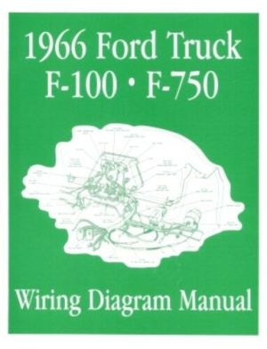 FORD 1966 F100  F750 Truck Wiring Diagram Manual 66 | eBay