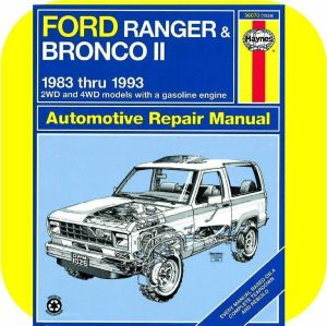 Repair Manual Book Ford Ranger Pickup Truck Bronco II | eBay