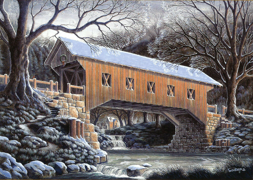 Cards Bridge Country Christmas