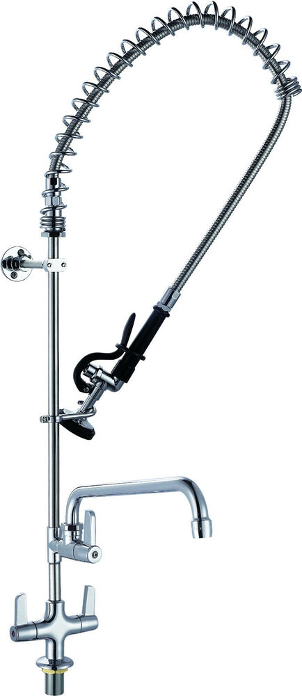 Commercial Pre Rinse Tap Kitchen Sink Trigger Spray Arm