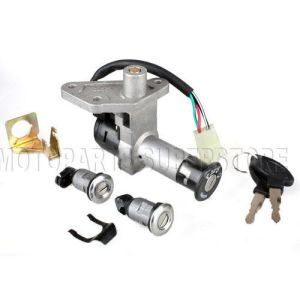 Ignition Key Switch Set 4 Wire 150cc GY6 Moped Scooter