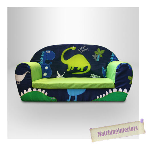 Dinosaurs Dino Kids Childrens Double Foam Sofa Toddlers