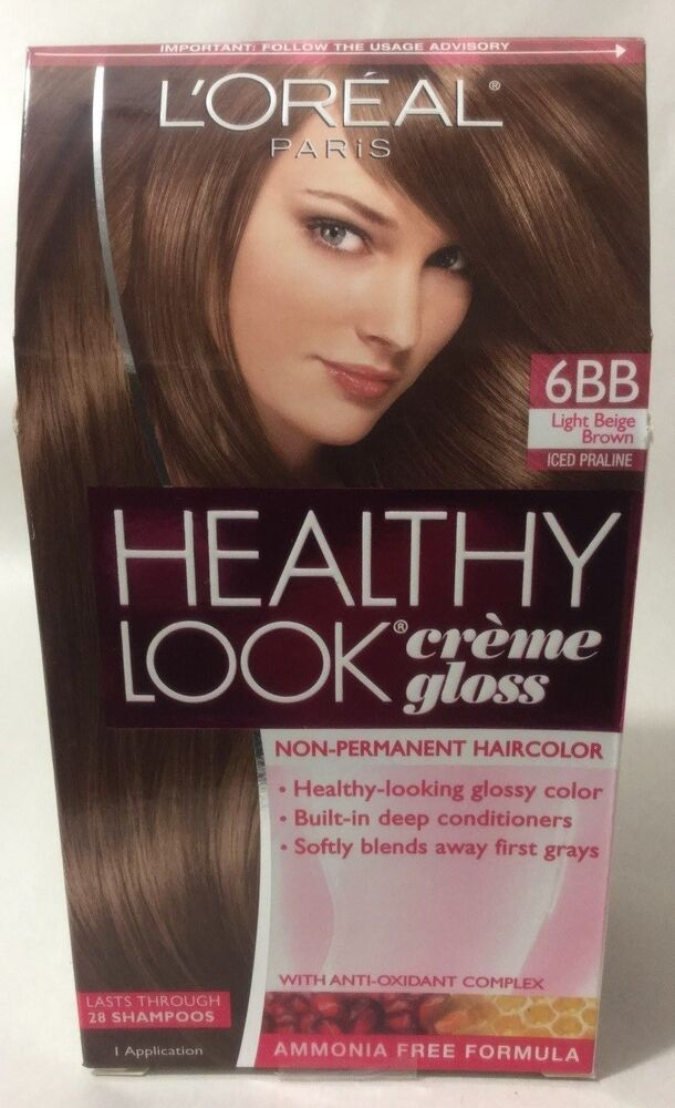 LOreal Healthy Look Creme Gloss Hair Color Light Beige