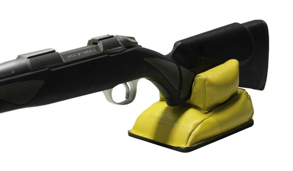 Rear Bench Rest Bag Pu Leather Shooting Rifle Range New