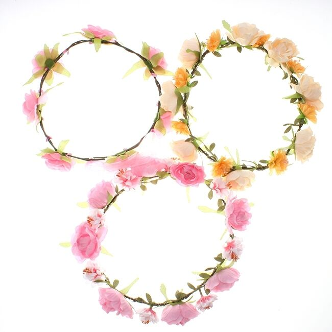 Women Head Band Flower Ring Hair Accessories Wedding