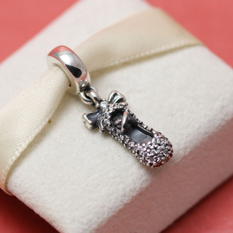 New Authentic Pandora Ballet Slipper Bead 791506CZ Ballerina Charm EBay