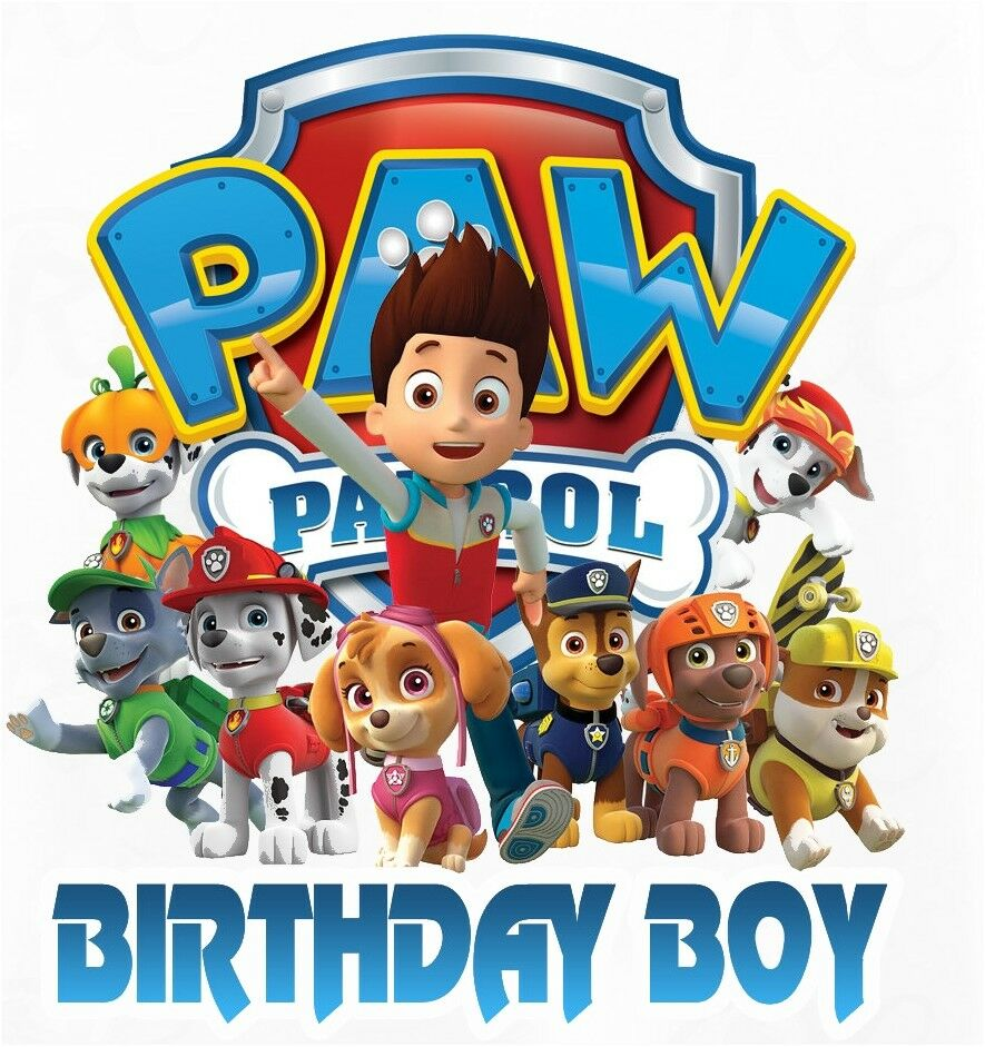 Paw Patrol Birthday Boy T Shirt Iron On Tr