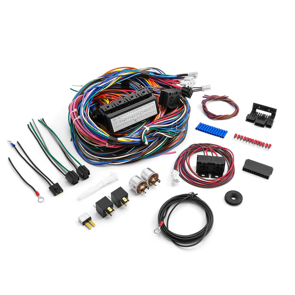 Universal 20 Circuit Wiring Harness Kit Street Rod Hot Rod