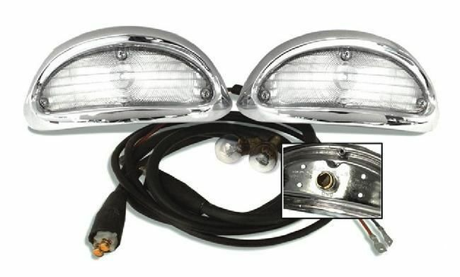 55 1955 Chevy Park Light Turn Signal Chrome Assembly With