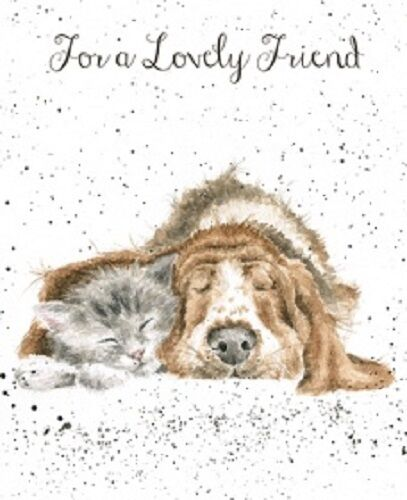 Wrendale Designs Greeting Card NEW Cat Amp Dog For A Lovely