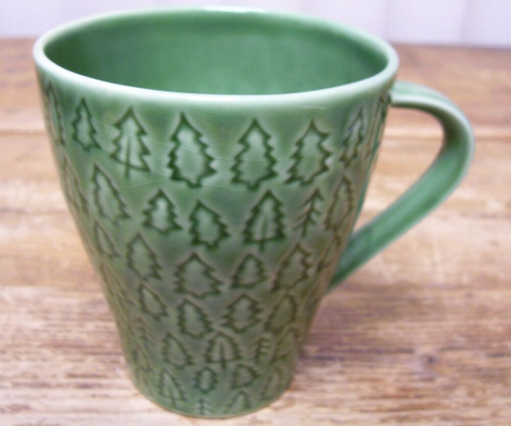 Starbucks Coffee Mug Cup Green Christmas Tree 2008 Design