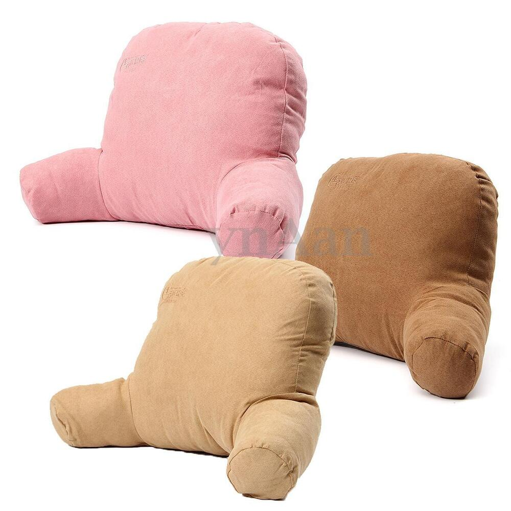 Pink Bed Rest Pillow Arms