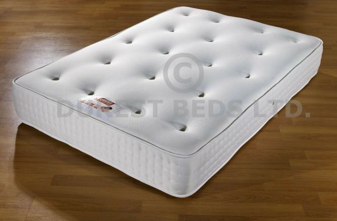 12 Memory Foam Semi Orthopaedic Mattress Double 4ft6 5ft King Size Damask Cover Ebay