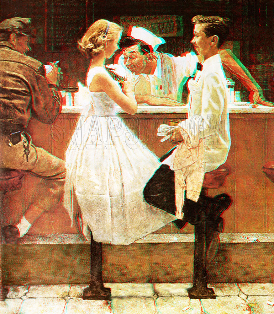 After The Prom Soda Jerk Norman Rockwell Saturday Evening