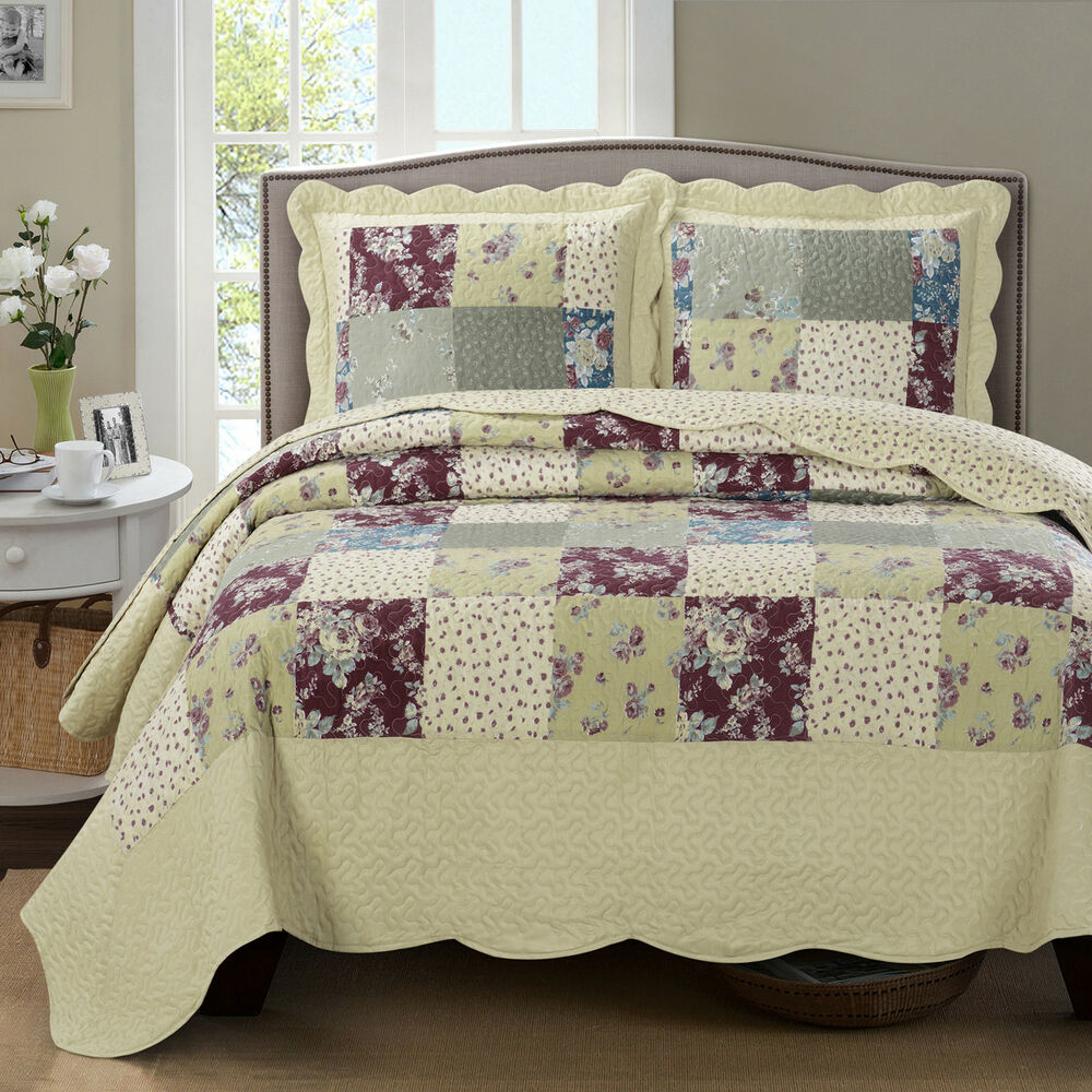 Luxury Tania Oversized Microfiber Coverlet Quilt Set With