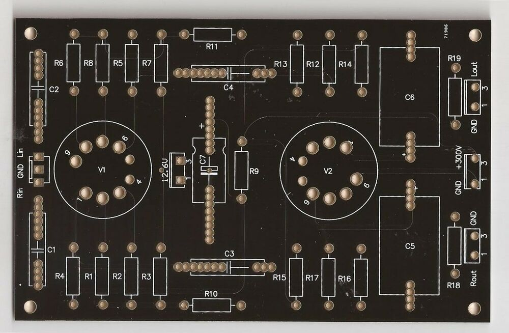 12ax7 12au7 Preamplifier Pcb Stereo One Piece