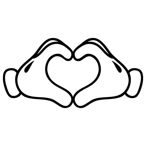 Download HEART FROM HAND LOVE MICKEY MINNIE MOUSE CARTOON CAR VINYL ...