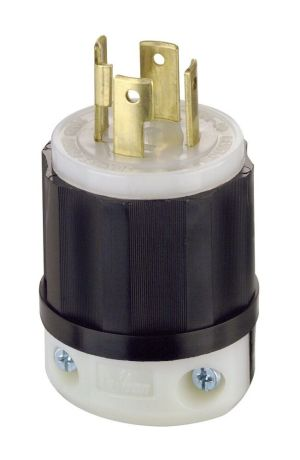 Leviton L012711 30 Amp 4wire Twist Lock Plug BLACKWHITE