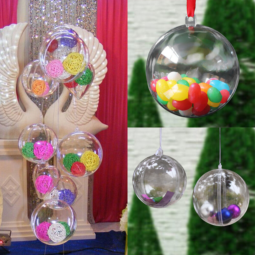 Plastic Ball Ornaments Christmas Diy