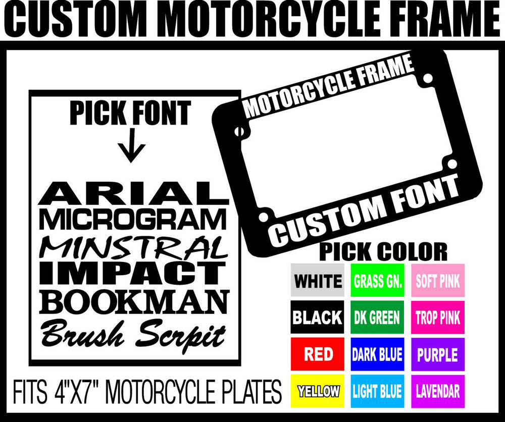 Personalized Motorcycle License Plate