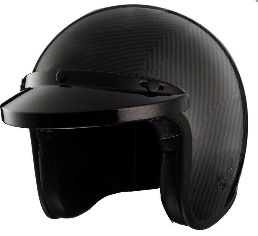 Jet Black Motorcycle Helmet