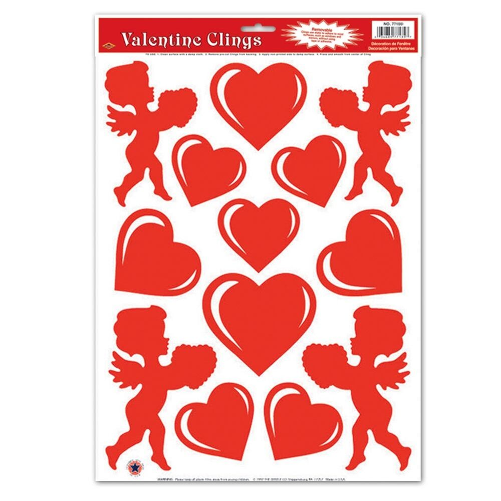 Valentine Cupid Window Clings EBay