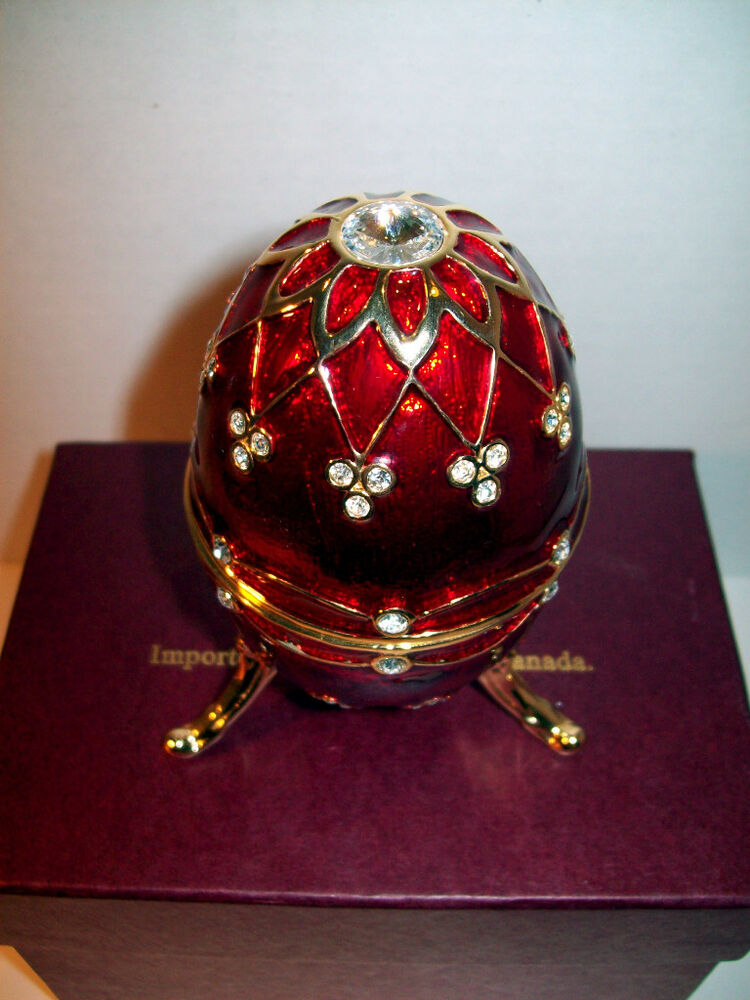 NEW IN BOX VERSAILLES FABERGE LIKE EGG JEWELRY BOX EBay
