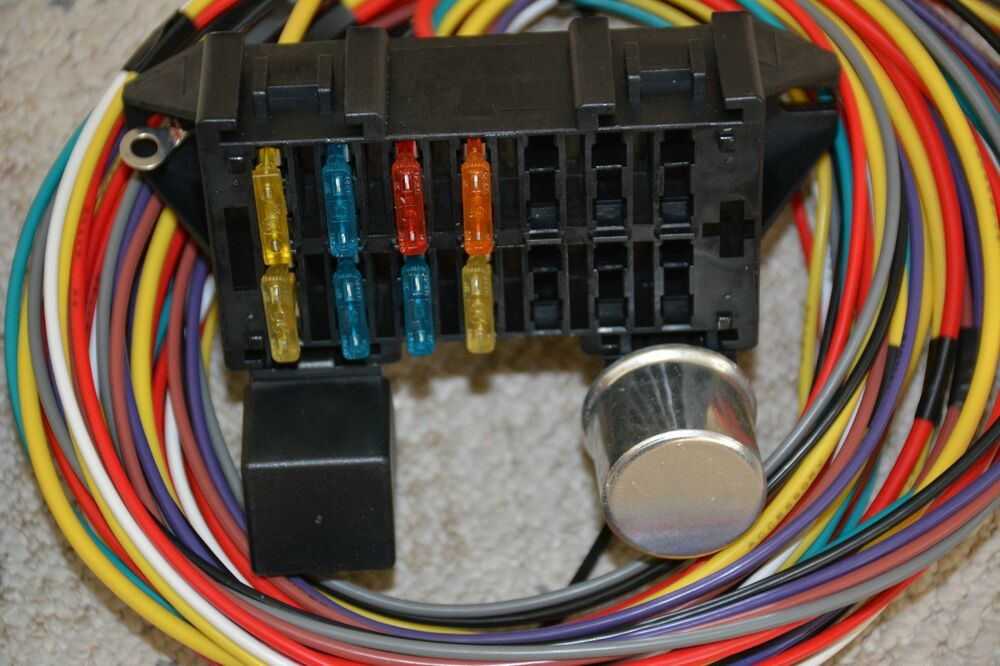 10 Circuit Basic Wire Harness Fuse Box Street Hot Rat Rod