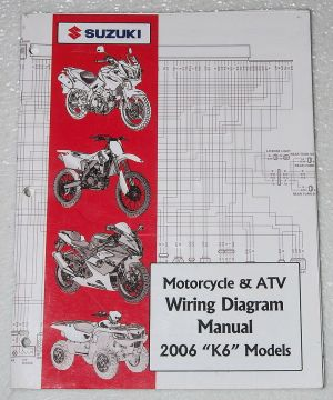 2006 SUZUKI Motorcycle ATV Wiring Diagrams Manual K6