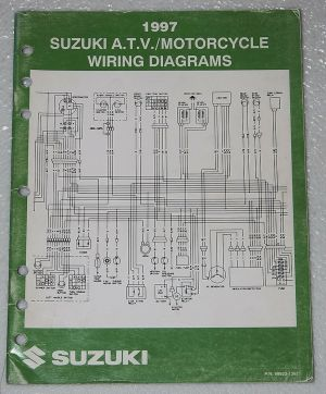 1997 SUZUKI Motorcycle ATV Wiring Diagrams Manual Electrical Troubleshooting 97 | eBay
