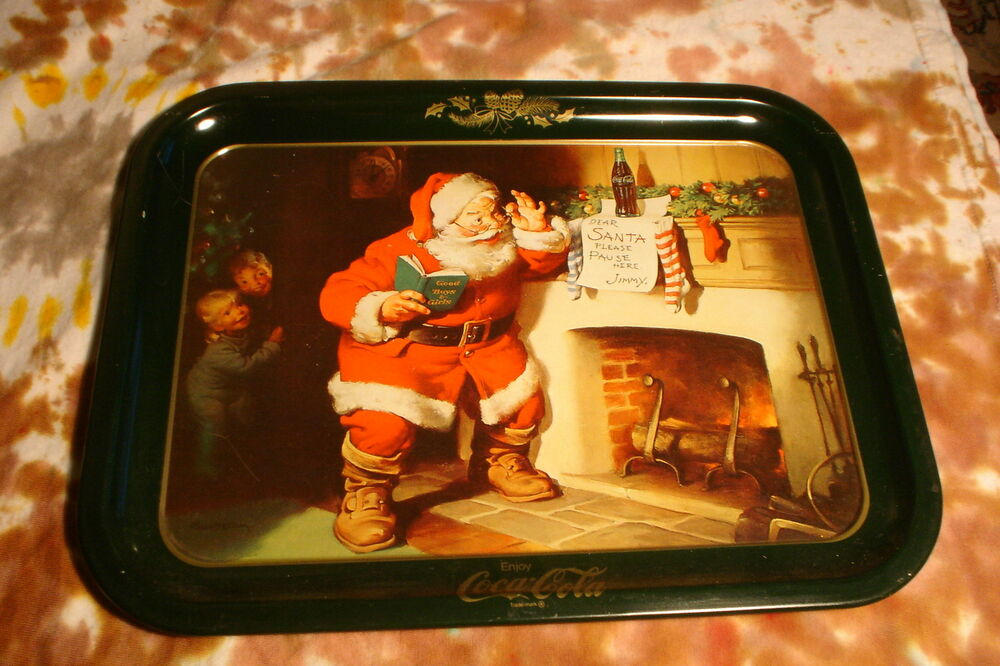 Coca Cola Serving Tray DEAR SANTA PLEASE PAUSE HERE Jimmy