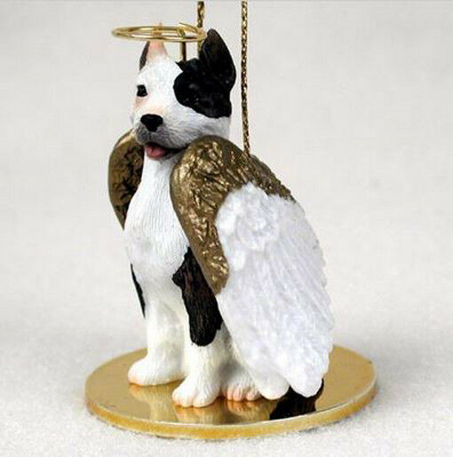 PIT BULL TERRIER BRINDLE ANGEL DOG CHRISTMAS ORNAMENT