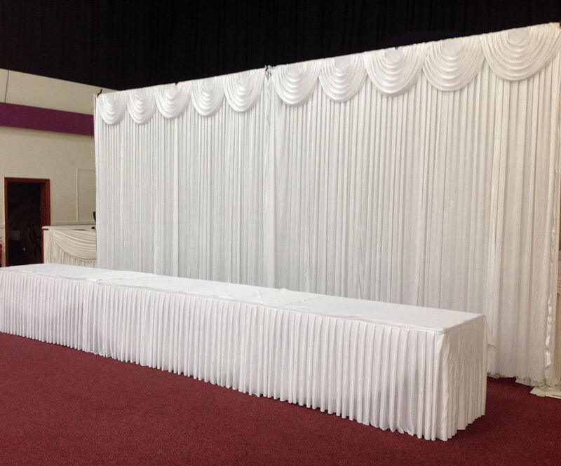 6Mx3M White Wedding Backdrop Curtain With Detachable Swag For SALE EBay