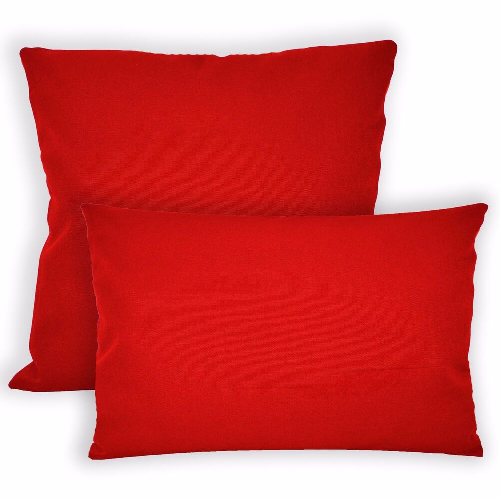 Aw01a Bright Red High Quality 12oz Cotton Cushion CoverPillow Case Custom Size EBay
