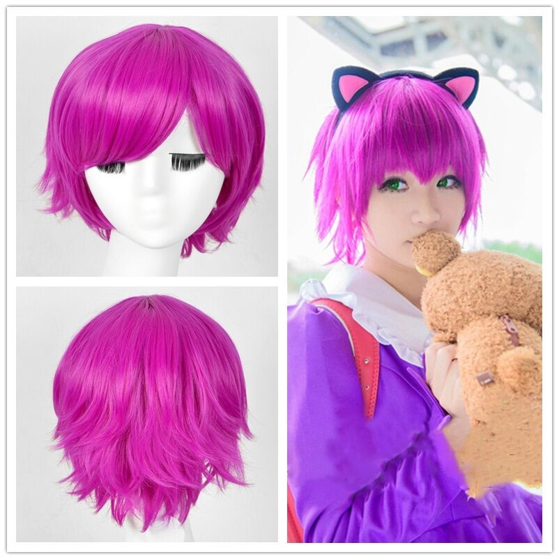 League Of Legends Annie Cosplay Wig 30cm Short Straight
