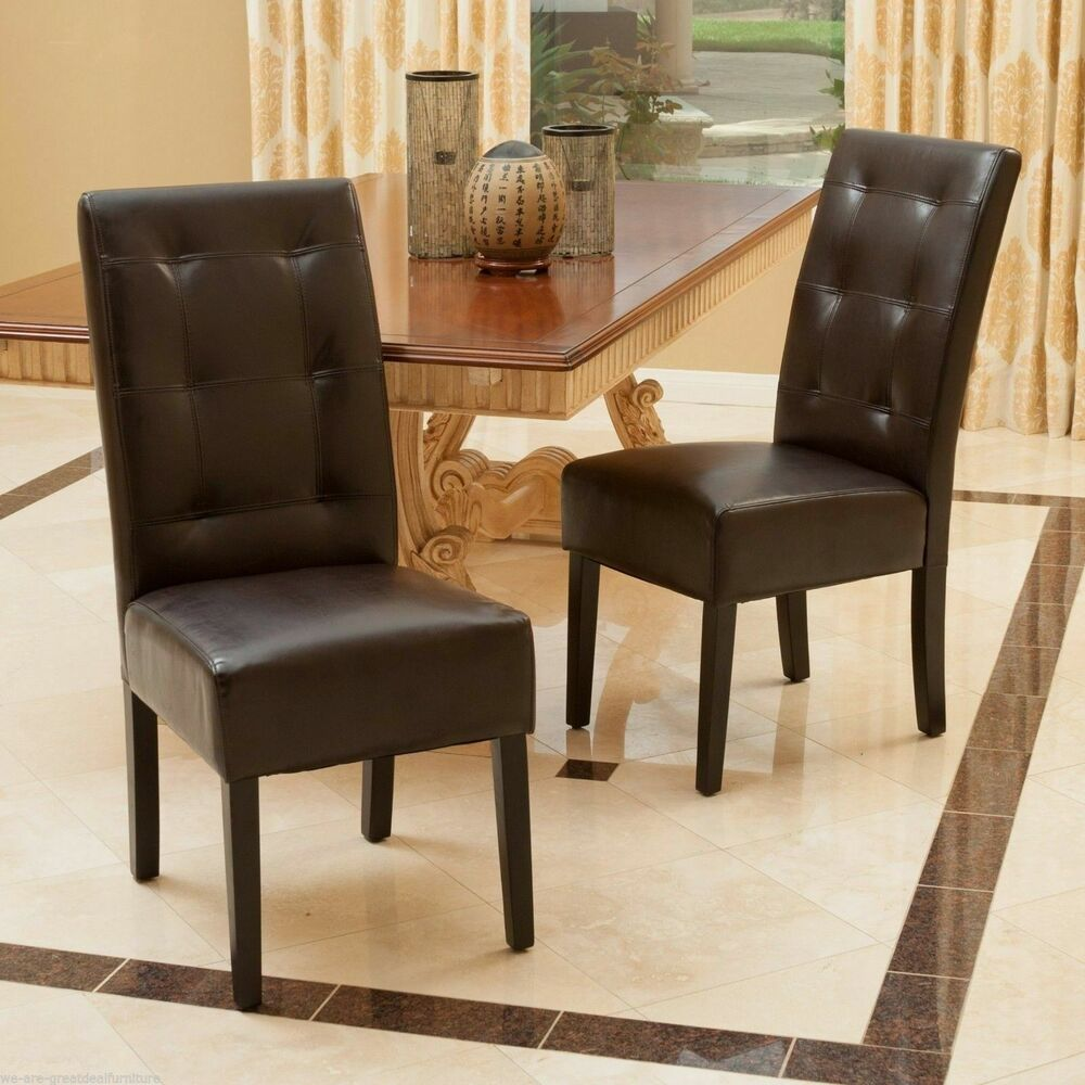 Dining Room Leather Chairs