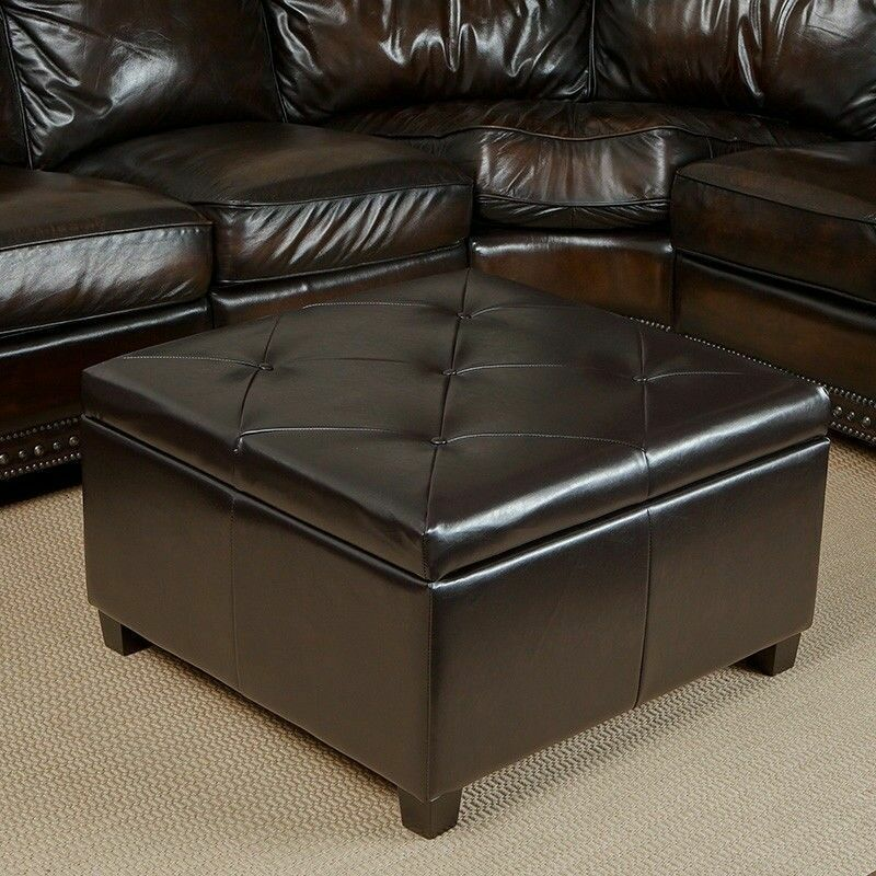 Large Fabric Storage Ottoman