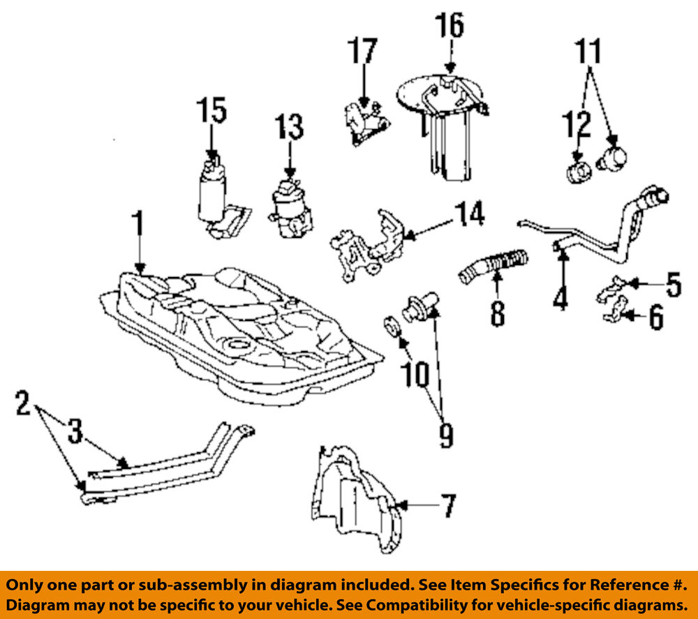 98 Toyota Camry Parts List Diagram
