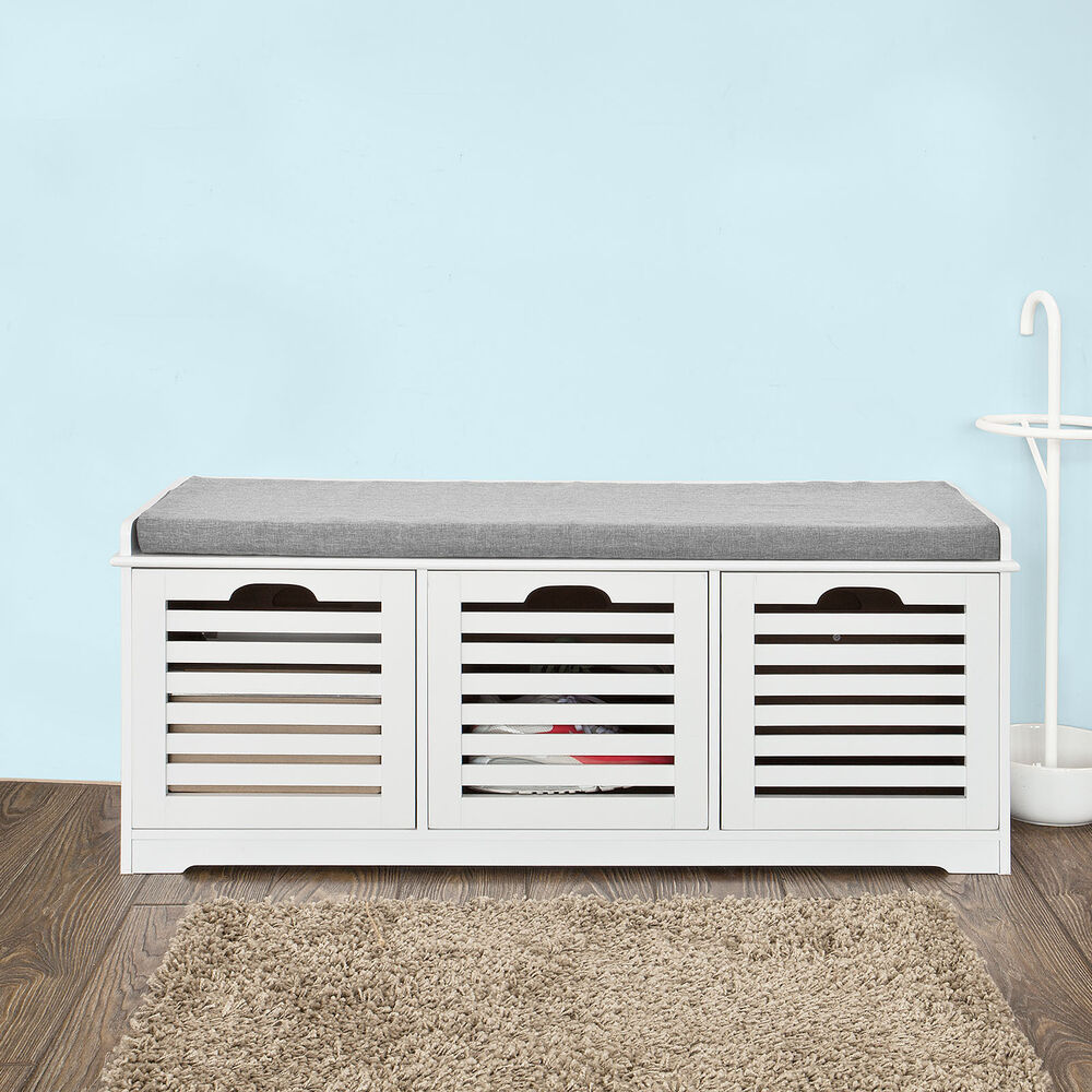 SoBuy Storage Bench With Drawers Shoe Cabinet With Seat
