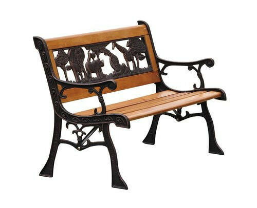 Outdoor Childrens Animal Wood Park Bench, New! Kid's Seat