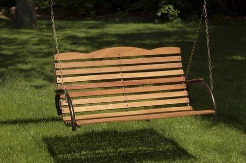 Bench Swing Wooden Garden